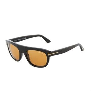 TOM FORD Federico Semi-Shield Acetate Sunglasses